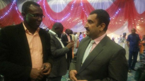 Publisher, Diplomatic Watch, Victor Gotevbe in a chat with Head of Chancery, High Commission of Pakistan, Nigeria, Asim Ali Khan, at the event.