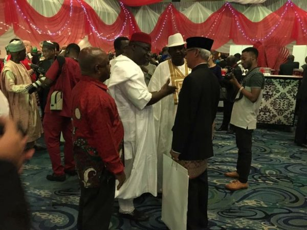 Indonesian envoy to Nigeria, Harry Purwanto in a chat with some dignitaries at the event