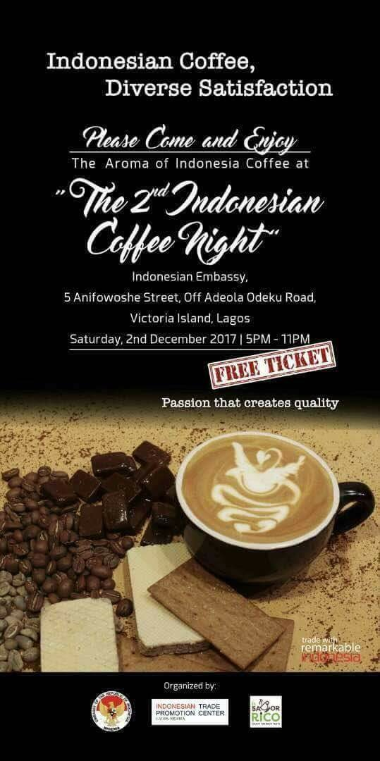 2nd Indonesian Coffee Night Holds Dec. 2 In Lagos