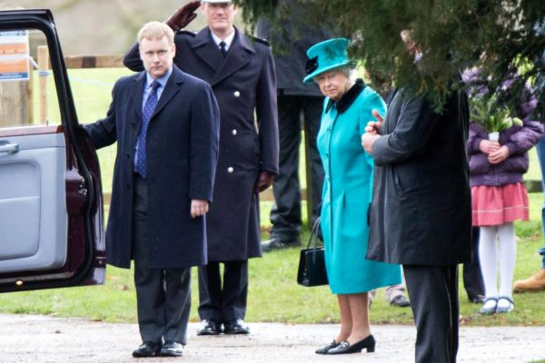 Queen Elizabeth, Family Attend New Year's Eve Church Service In Sandringham