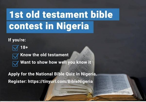 Israel Ready To Hold 1st National Old Testament Bible Contest In Nigeria